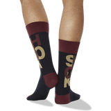 Men's Shook Crew Socks in Maroon thumbnail