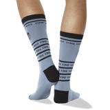 Men's King Tiger Embroidered Socks in Slate