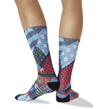 Men's Graffiti Wall Tube Socks in Multi-Colored thumbnail