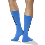 Men's Color Names Crew Socks in Cobalt Blue