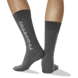 Men's Color Names Crew Socks in Charcoal