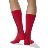 Men's Color Names Crew Socks in Red thumbnail
