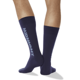 Men's Color Names Crew Socks in Midnight Blue