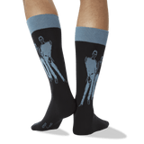 Men's Richard Haines' People Socks in Black thumbnail
