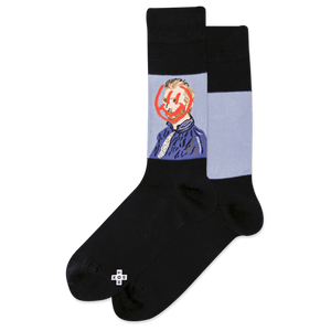 Men's Van Gogh Smiley Crew Socks