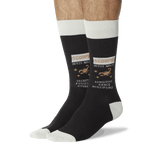 Men's Scorpio Zodiac Socks Black On Leg Image One