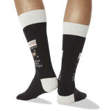 Men's Scorpio Zodiac Socks Black Back of Leg