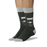 Men's Pisces Zodiac Socks Olive On Leg Image One thumbnail