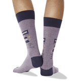 Men's Gemini Zodiac Socks in Purple