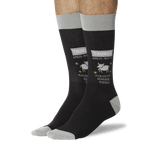 Men's Taurus Zodiac Socks Black On Leg Image One