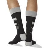 Men's Taurus Zodiac Socks in Black