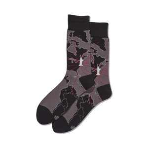 Men's World Map Crew Socks