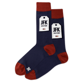 Men's NYC Luggage Tag Crew Socks