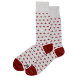 Men's Paper Airplane Crew Socks