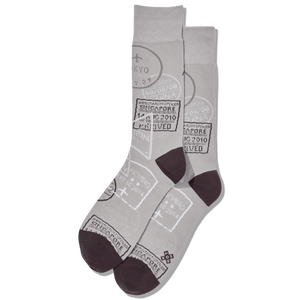 Men's Travel Visas Crew Socks