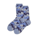 Women's Lion Camouflage Crew Socks