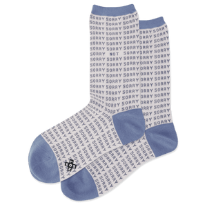 Women's Sorry Not Sorry Crew Socks