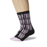 Women's I'm Hip Crew Socks Black On Leg Image One