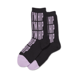 Women's I'm Hip Crew Socks