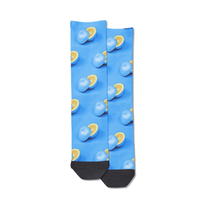 Women's Blue Oranges Tube Socks