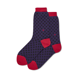 Women's Standout Dots Crew Socks