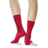 Women's Color Names Crew Socks in Red