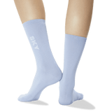 Women's Color Names Crew Socks in Light Blue
