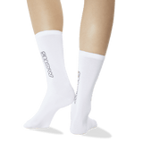 Women's Color Names Crew Socks White Back of Leg