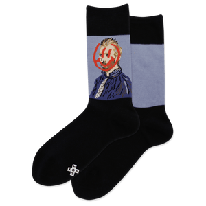 Women's Van Gogh Smiley Crew Socks