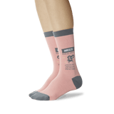 Women's Aries Zodiac Socks Peach On Leg Image One