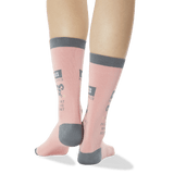 Women's Aries Zodiac Socks in Peach
