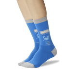 Women's Cancer Zodiac Socks Blue On Leg Image One thumbnail