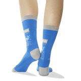 Women's Cancer Zodiac Socks in Blue