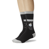 Women's Aquarius Zodiac Socks Black On Leg Image One thumbnail