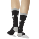 Women's Aquarius Zodiac Socks in Black