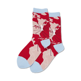 Women's World Map Crew Socks