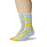 Women's I'm Hip Sport Socks Light Blue On Leg Image One