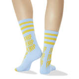 Women's I'm Hip Sport Socks Light Blue Back of Leg