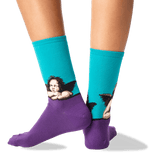 Women's Raphael's Angels Crew Socks in Teal Front thumbnail