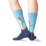 Men's Botticelli's Birth of Venus Socks in Blue Front