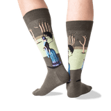 Men's Seurat's A Sunday Afternoon Socks in Green/Blue Front thumbnail