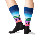 Men's Hollywood Crew Socks in Dark Blue Front