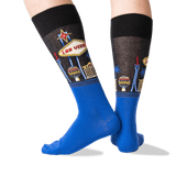 Men's Las Vegas Crew Socks in Black Front