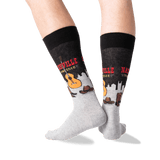Men's Nashville Crew Socks in Black Front