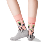 Women's New Orleans Crew Socks in Peach Front thumbnail