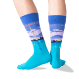 Men's Toronto Crew Socks in Blue Front thumbnail