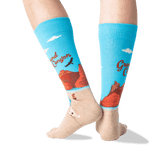 Men's Grand Canyon Crew Socks in Light Blue Front