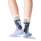 Women's Caillebotte' Paris Street: A Rainy Day Socks in Natural Melange Front