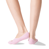 Women's Pugs and Kisses No Show Socks in Petal Pink Front