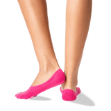 Women's Don't Stress Meowt No Show Socks in Hot Pink Front thumbnail